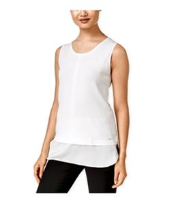 Calvin Klein Womens Sleeveless Layered Pullover Sweater