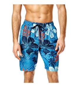Newport Blue Mens Tribal Flower Swim Bottom Board Shorts