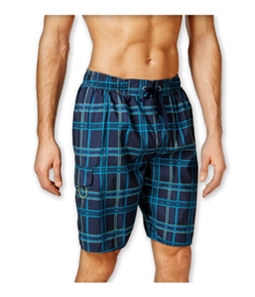 Newport Blue Mens Plaid Swim Bottom Board Shorts