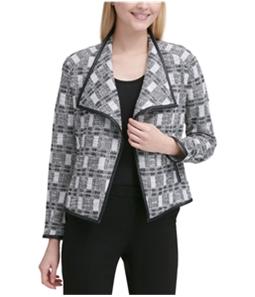 Calvin Klein Womens Metallic Tweed Blazer Jacket