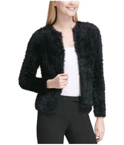 Calvin Klein Womens Fuzzy Cardigan Sweater