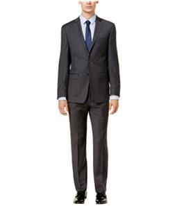 Calvin Klein Mens Plaid Formal Tuxedo