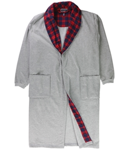 Club Room Mens Plaid Collar Non Belted Robe