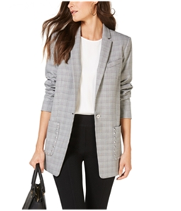 Michael Kors Womens Studded One Button Blazer Jacket
