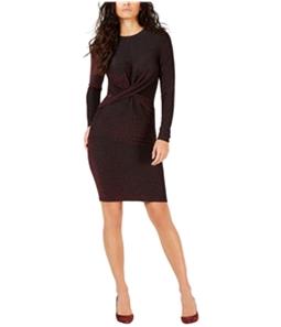 Michael Kors Womens Twist Sheath Dress