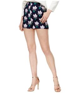 Mare Mare Womens Cotton Lotus-Print Casual Mini Shorts
