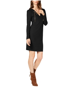 Michael Kors Womens Ribbed Lace Up Sweater Dress