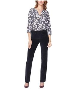 NYDJ Womens Marilyn Ponte Casual Trouser Pants