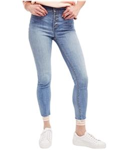Free People Womens Reagan Raw-Hem Skinny Fit Jeans