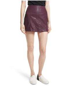 Free People Womens Vegan Mini Skirt