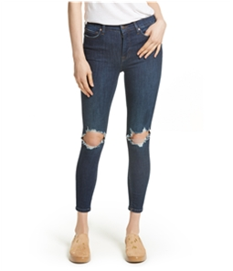 Free People Womens Busted Knee Skinny Fit Jeans