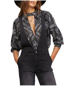 Free People Womens Walking On A Dream Tunic Blouse