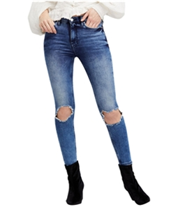 Free People Womens Busted Skinny Fit Jeans