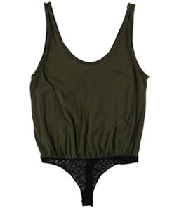Free People Womens Sydney Lace-Contrast Bodysuit Jumpsuit
