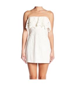 Free People Womens Morning Dove Mini Strapless Dress