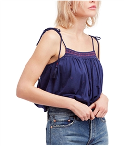 Free People Womens Embroidered Tank Top