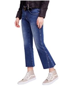 Free People Womens Rita Crop Flared Jeans