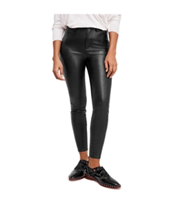 Free People Womens Faux Leather Casual Trouser Pants