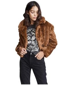 Free People Womens Mena Faux Fur Jacket