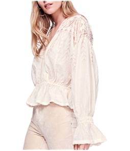 Free People Womens Counting Stars Peasant Blouse