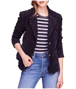 Free People Womens Byron Corduroy Two Button Blazer Jacket