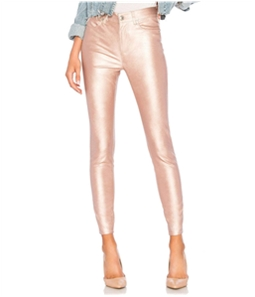 Free People Womens Metallic Faux Leather Casual Leggings