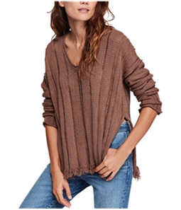 Free People Womens Distressed Pullover Sweater