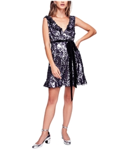 Free People Womens Siren Sequined A-line Dress