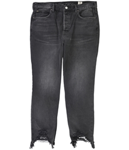 Free People Womens Chewed Up Straight Leg Jeans
