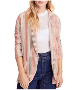 Free People Womens Simply Stripe One Button Blazer Jacket