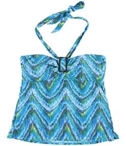 Island Escape Womens Printed Tankini Swim Top