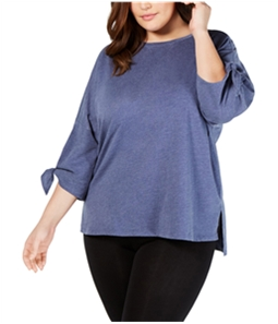 Calvin Klein Womens Tie Sleeve Basic T-Shirt