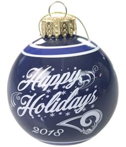 Forever Collectibles Unisex LA Rams Glass Ornament Souvenir