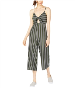 Project 28 Womens Tie Front Striped Jumpsuit