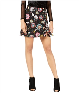 Project 28 Womens Lace-Up Mini Skirt