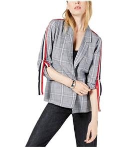 Project 28 Womens Striped Sleeve Blazer Jacket