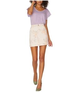 Sanctuary Clothing Womens Floral Denim Mini Skirt