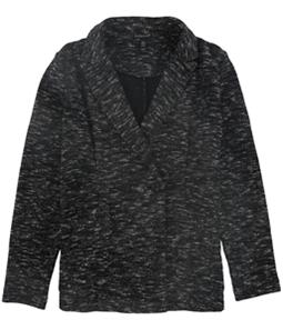 Eileen Fisher Womens Textured One Button Blazer Jacket