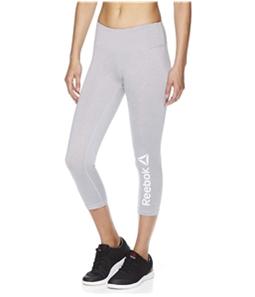 Reebok Womens Branded Capri Compression Athletic Pants