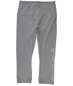 Reebok Womens Highrise Capri Compression Athletic Pants