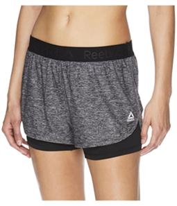 Reebok Womens Cardio Running Athletic Workout Shorts