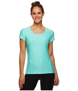 Reebok Womens Fitted Marled Basic T-Shirt
