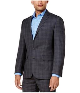 Ryan Seacrest Mens Plaid Modern-Fit Two Button Blazer Jacket