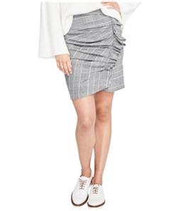 Rachel Roy Womens Ruffled Houndstooth Pencil Skirt