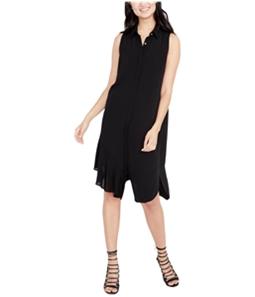 Rachel Roy Womens Crepe Shirt Dress