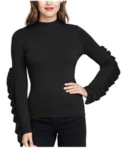 Rachel Roy Womens Ruffle-Sleeve Knit Sweater