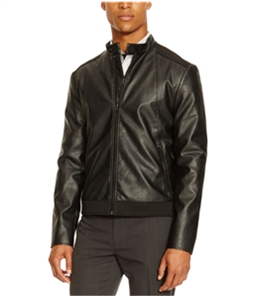 Kenneth Cole Mens Faux Leather Motorcycle Jacket