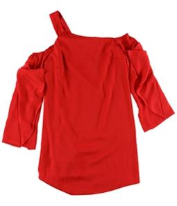 Rachel Roy Womens Ruffled One-Shoulder A-line Dress