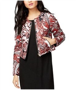 Rachel Roy Womens Printed Quilted Jacket