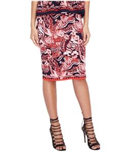 Rachel Roy Womens Printed Pencil Skirt